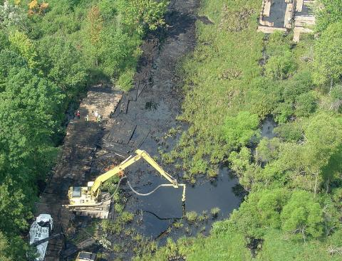 Cleanup efforts at Enbridge's spill in Michigan